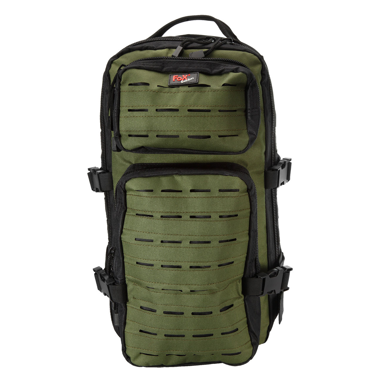 Fox Outdoor Rucksack Assault Travel Laser 20L schwarz/oliv 1