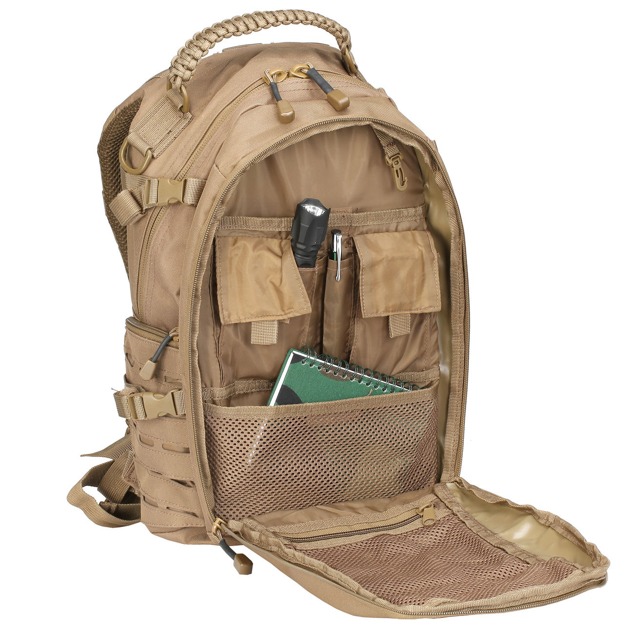 Mil-Tec Rucksack Mission Pack Laser Cut Small dark coyote 7