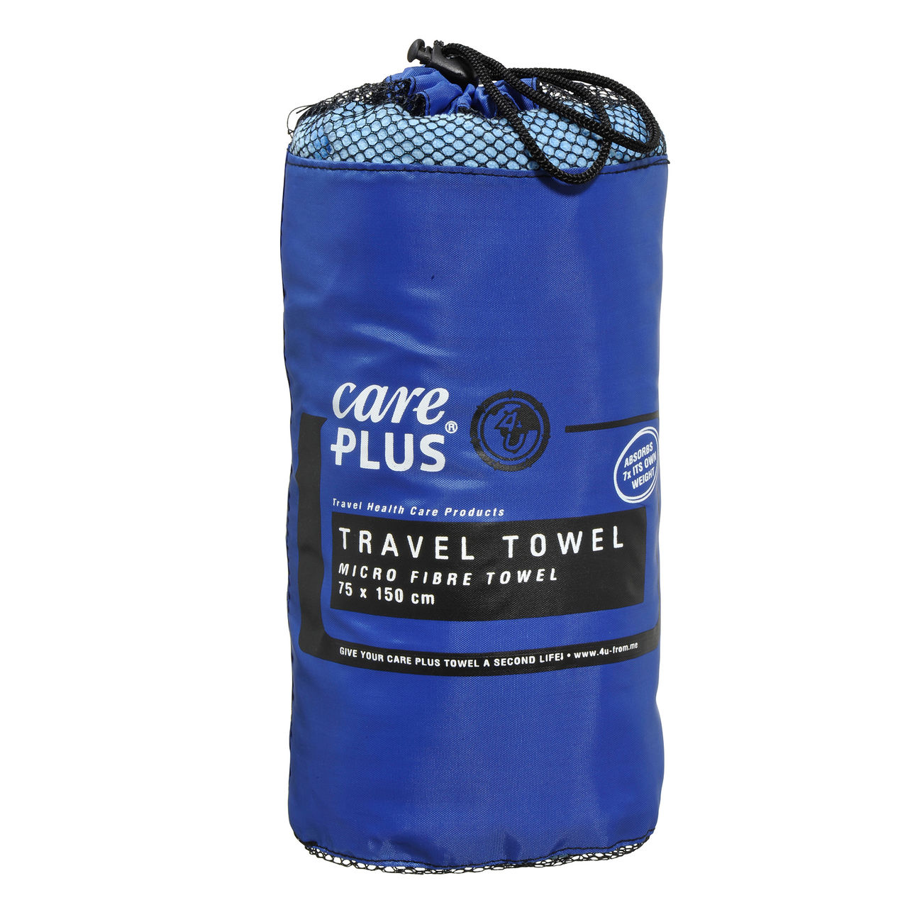 Care Plus Microfaserhandtuch Travel Towel 75 x 150 cm blau 1