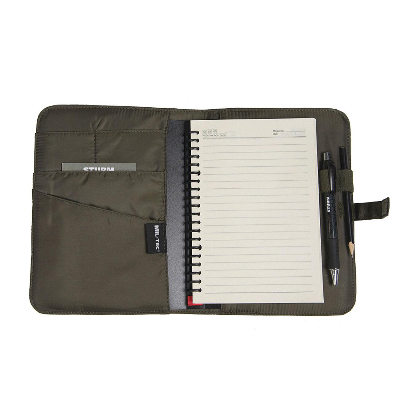 Notebooktaschen Mil-tec Tactical Notebook Medium Schwarz Notizbuch