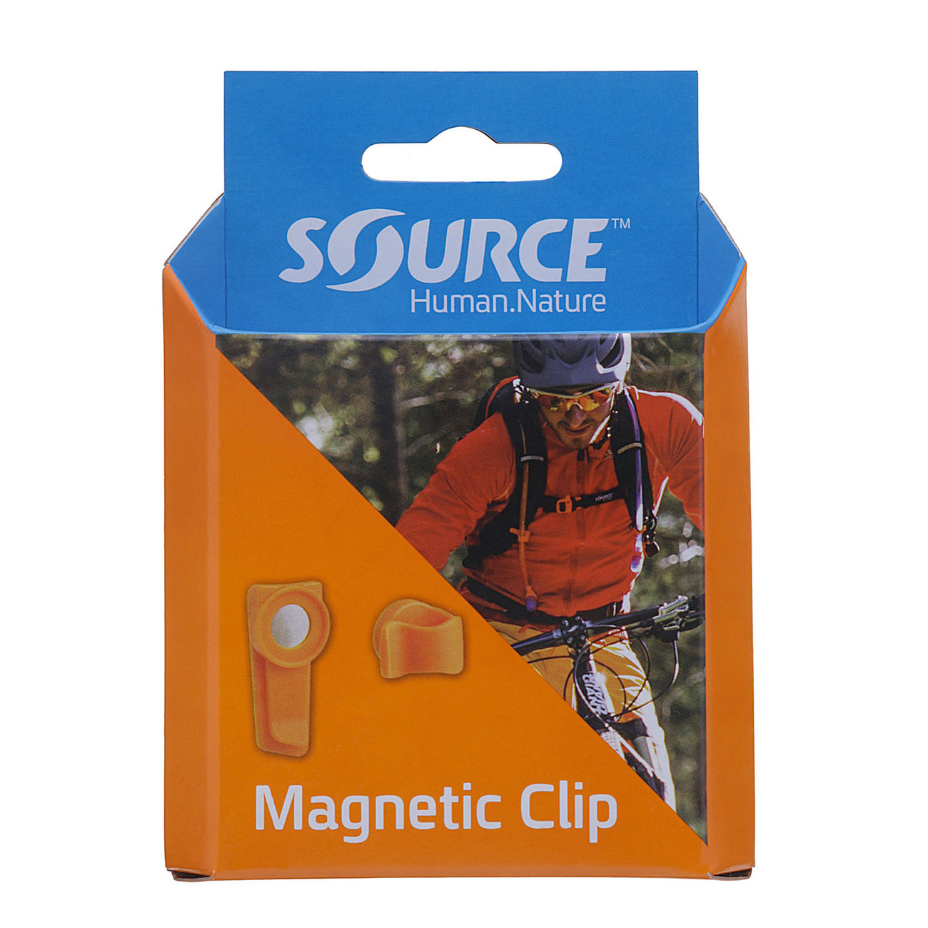 Source Magnet Clip Trinkschlauchfixierung orange 3