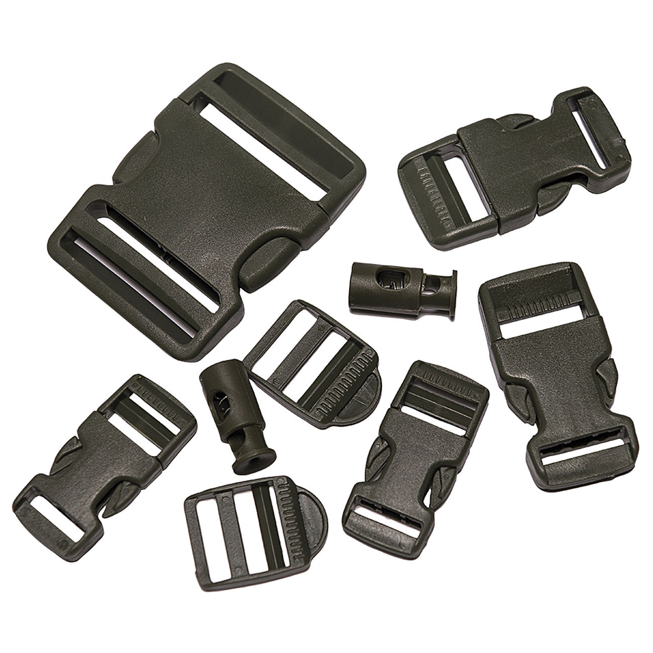 Mil-Tec Buckle Set 9-tlg. oliv 0