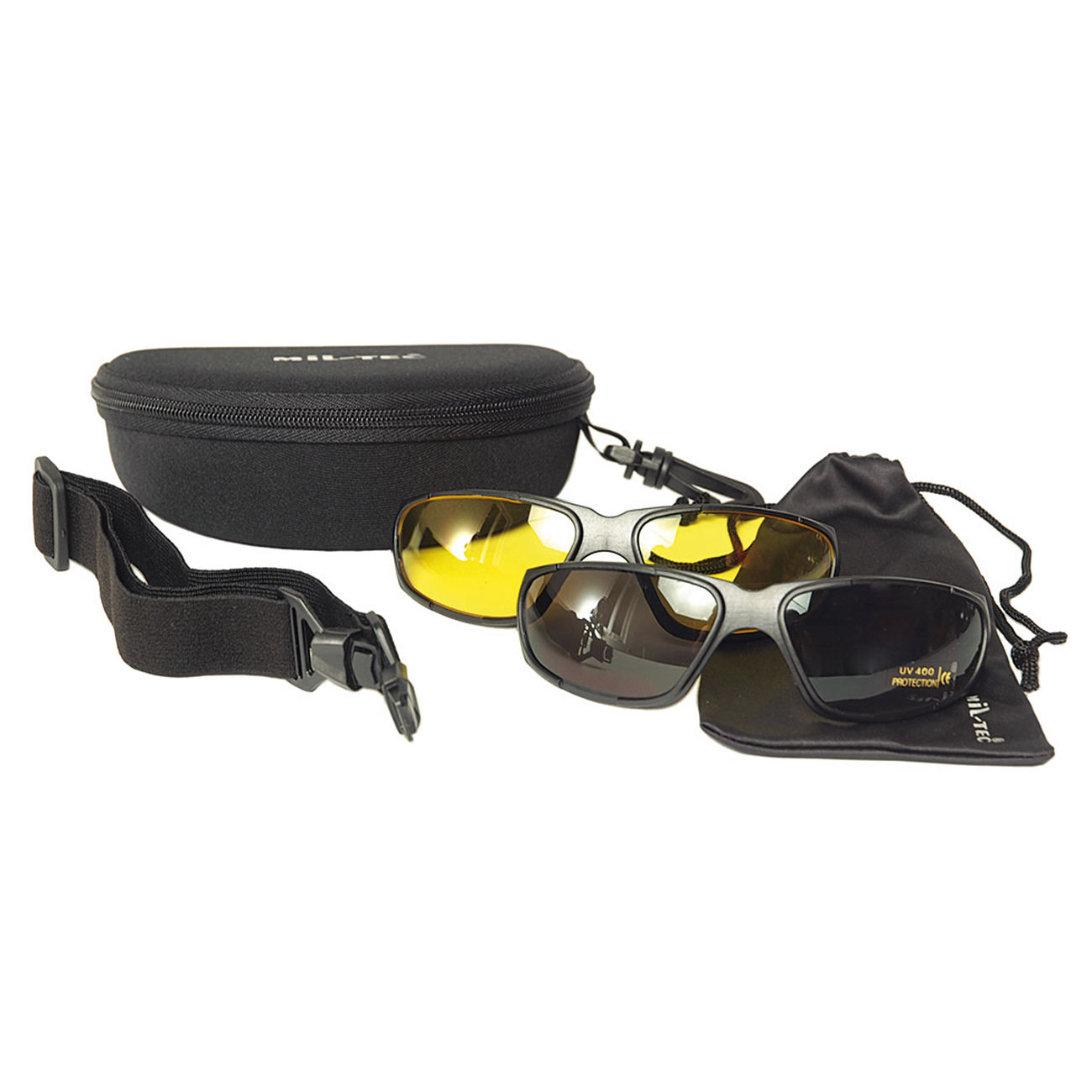 Mil-Tec Brille Tactical Goggle 3in1 schwarz 2