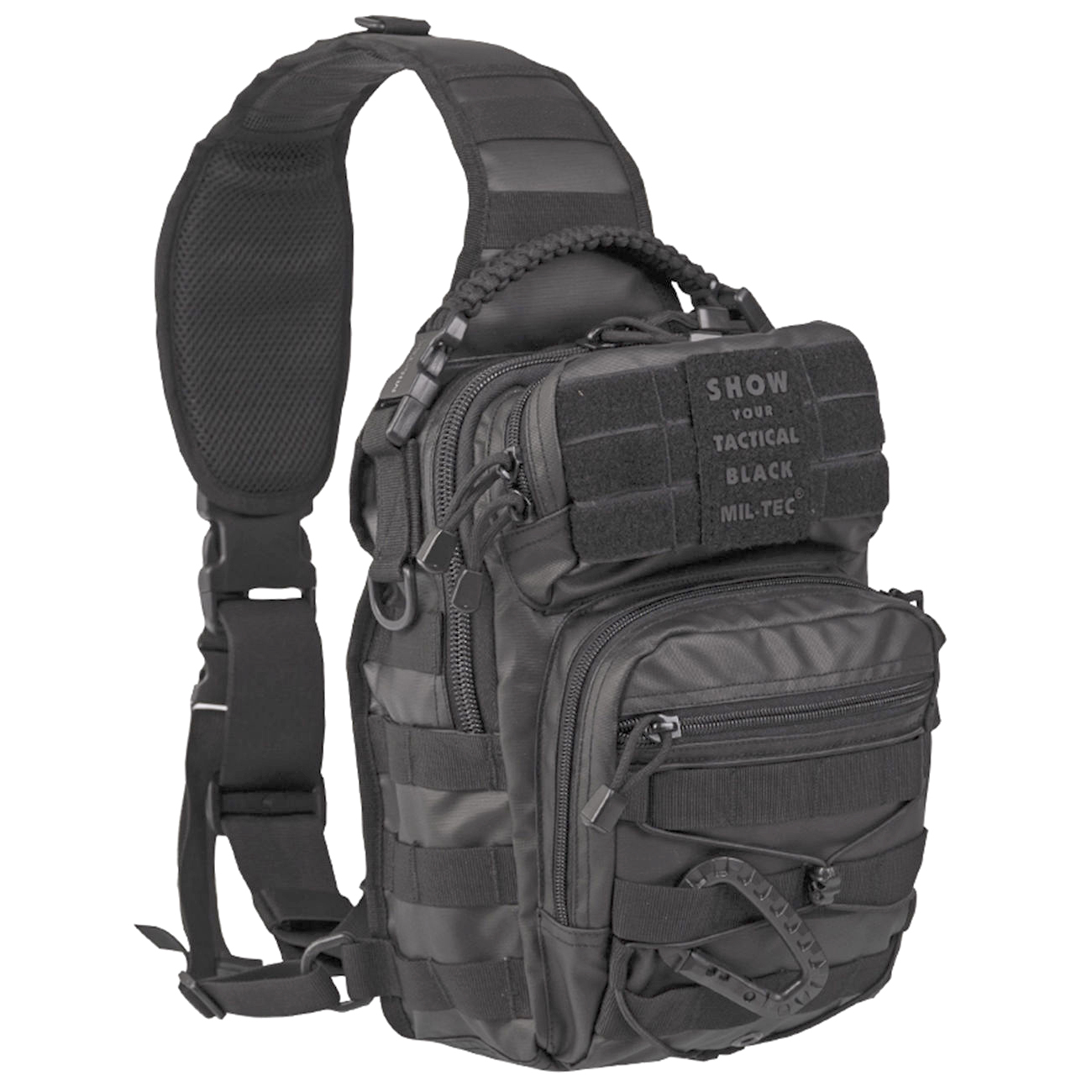 Mil-Tec Rucksack One Strap Assault Pack small 10 Liter tactical black 0