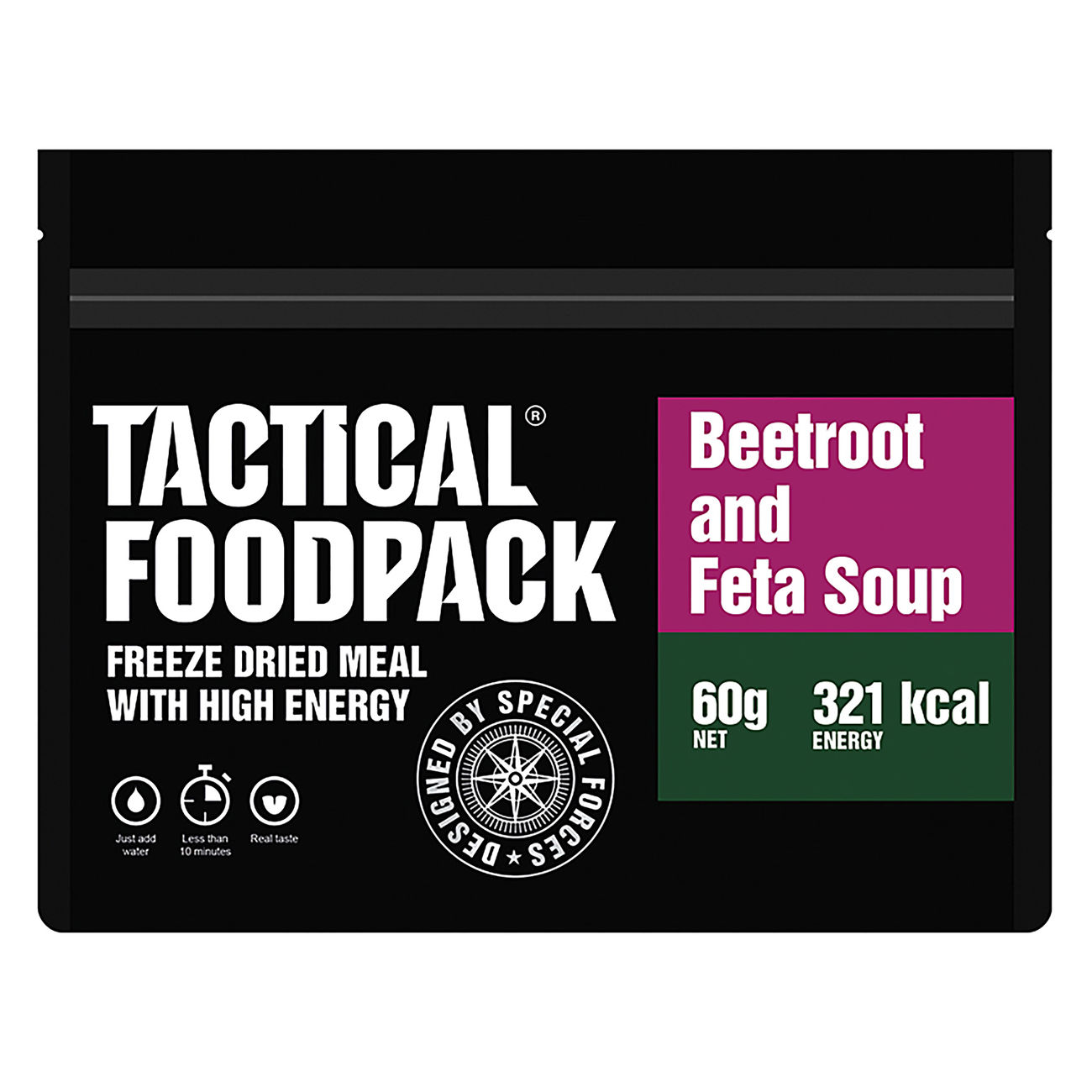 Tactical Foodpack Outdoor-Nahrungsmittel Rote-Beete-Suppe mit Feta 60 g Beutel 1