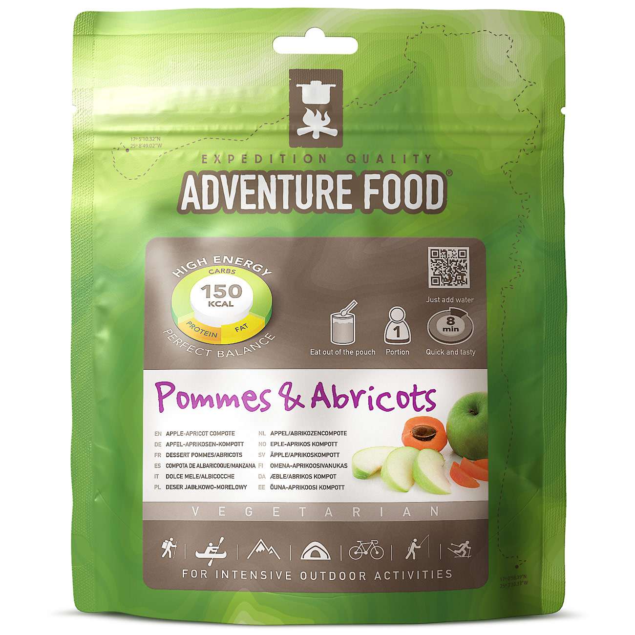 Adventure Food Apfel Aprikosen Kompott Einzelportion 0
