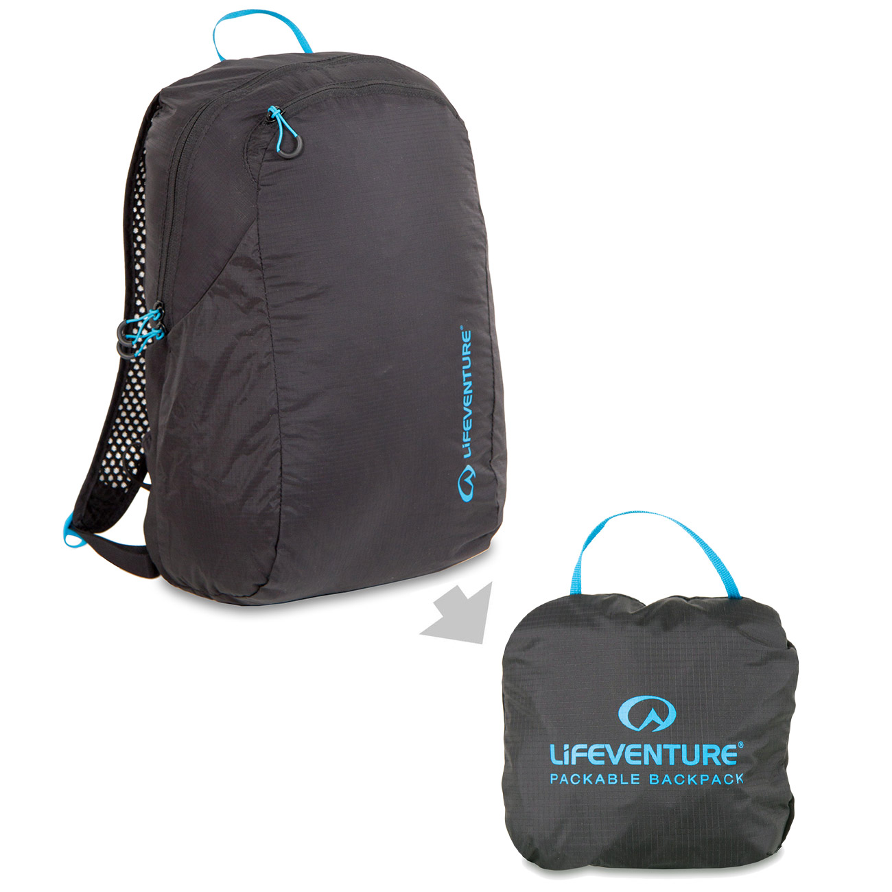 Lifeventure Rucksack Packable Backpack 16 Liter schwarz 0