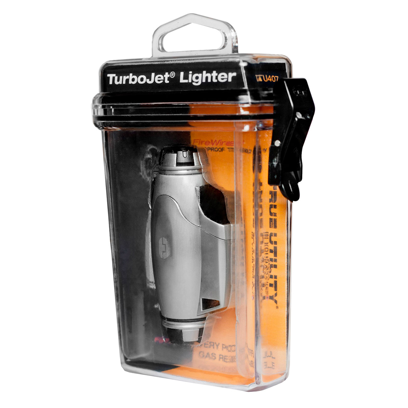 True Utility Sturmfeuerzeug TU407 TurboJet Lighter silber 3