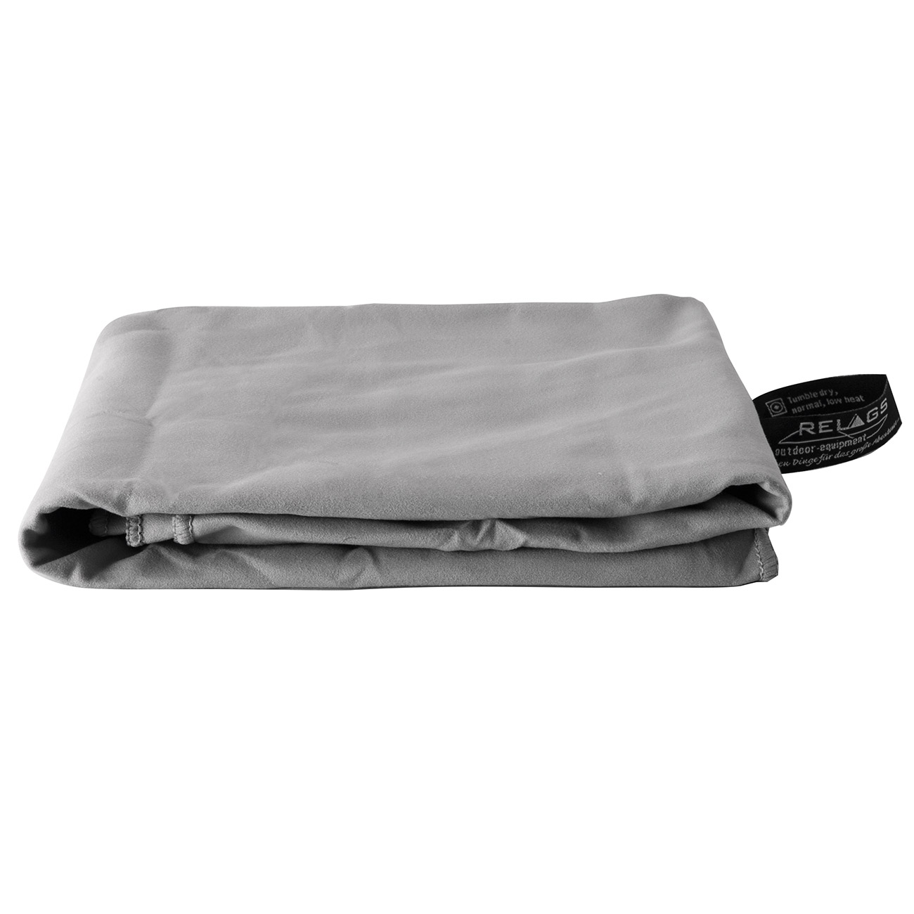 Relags Outdoor-Handtuch Basic Nature Velour 60 x 120 cm grau 0