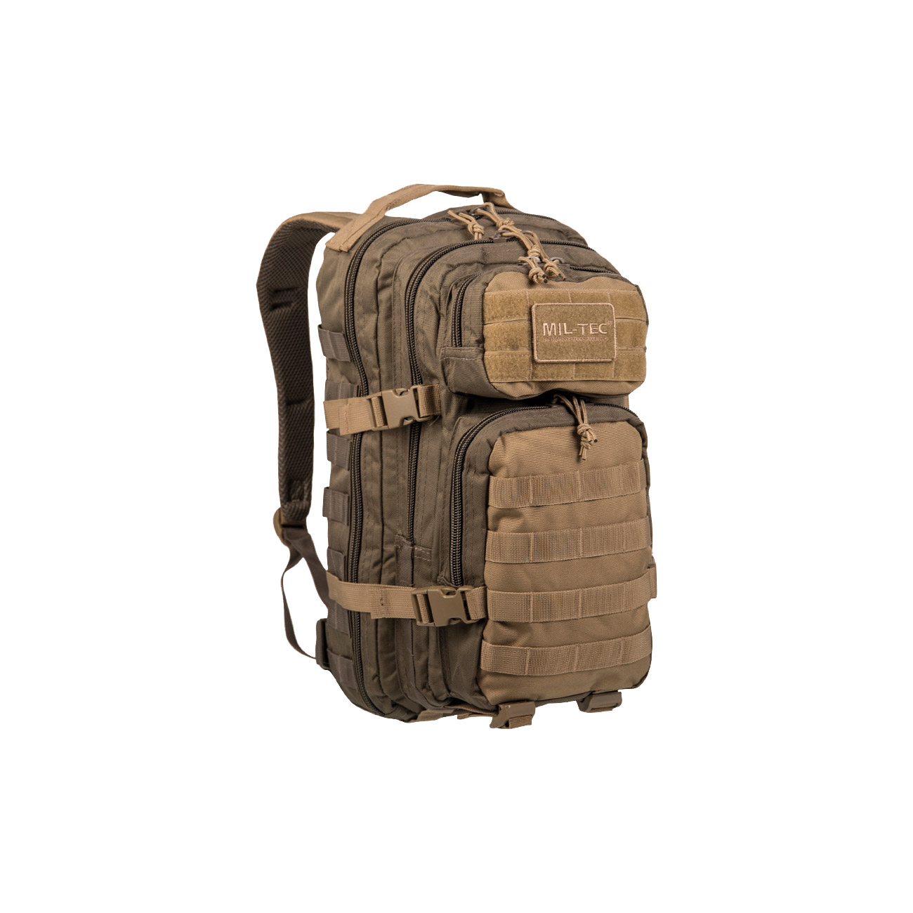 Mil-Tec Rucksack US Assault Ranger Pack 20 Liter green/coyote 0