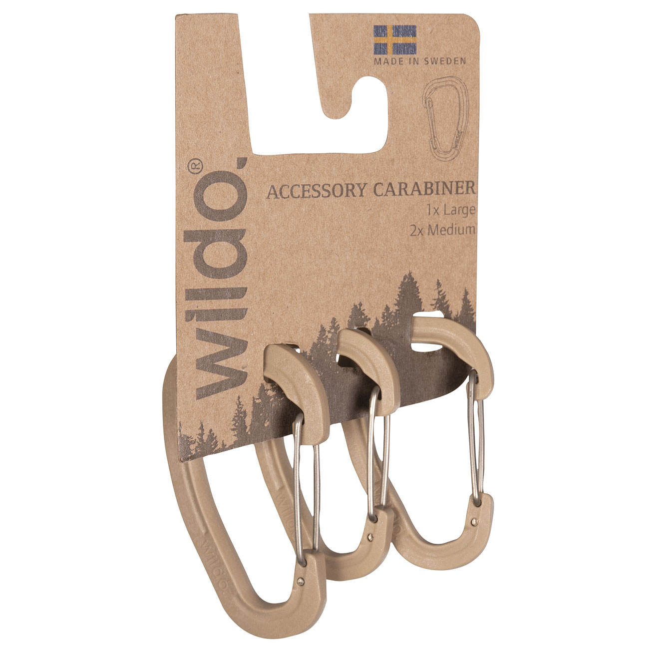Wildo Karabiner 3er Set coyote 0