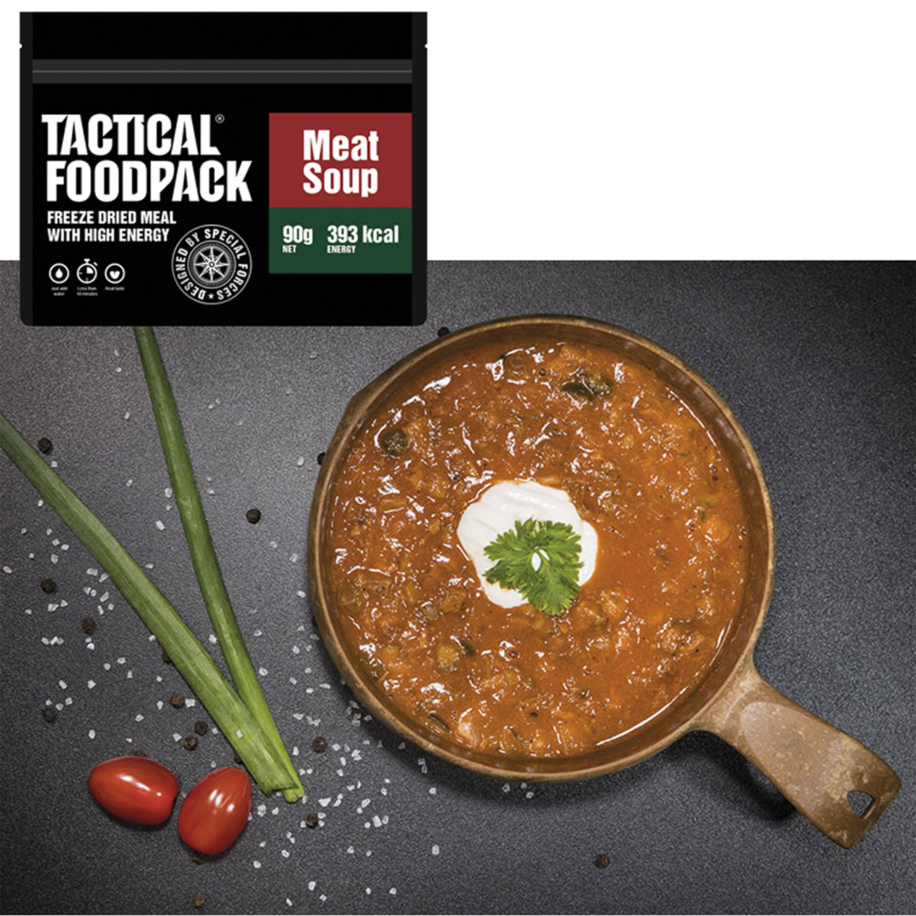 Tactical Foodpack Outdoor Mahlzeit Fleischsuppe 0