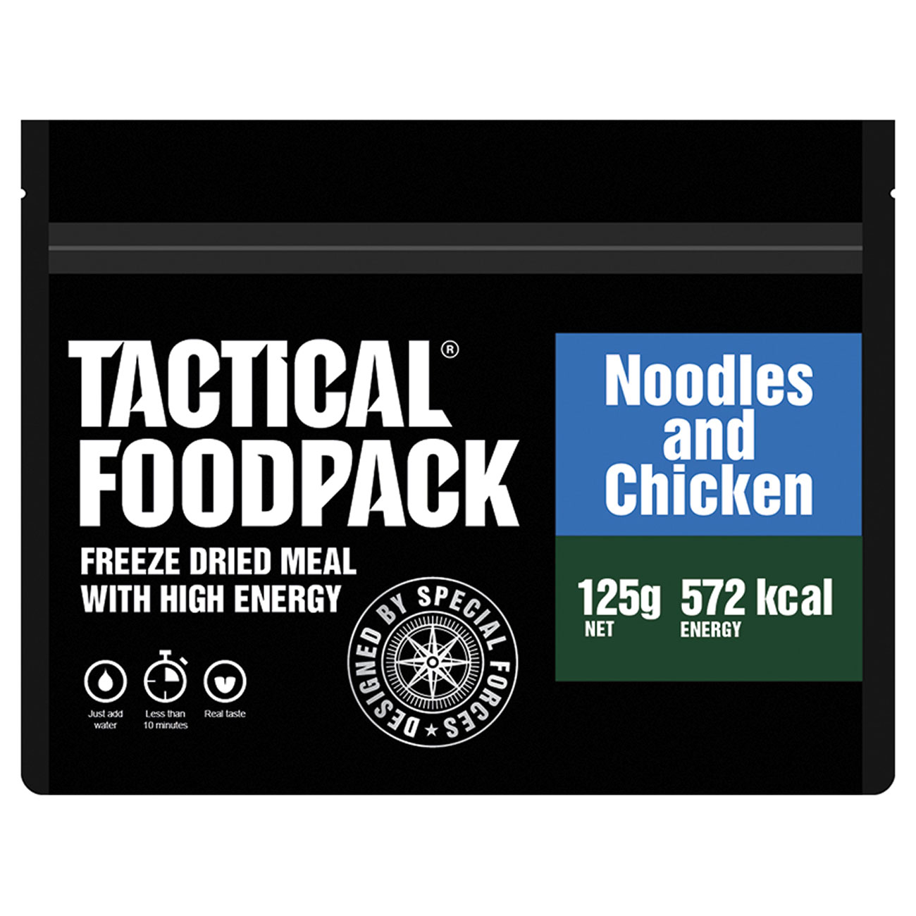Tactical Foodpack Outdoor Mahlzeit Hühnchen mit Nudeln 1