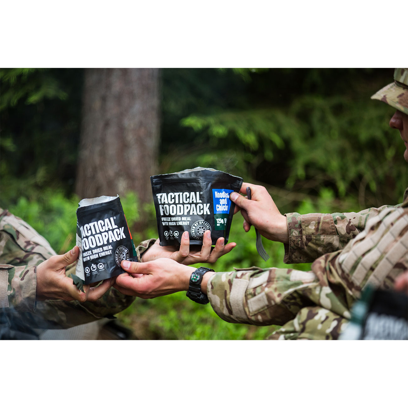 Tactical Foodpack Outdoor Mahlzeit Hühnchen mit Nudeln 10
