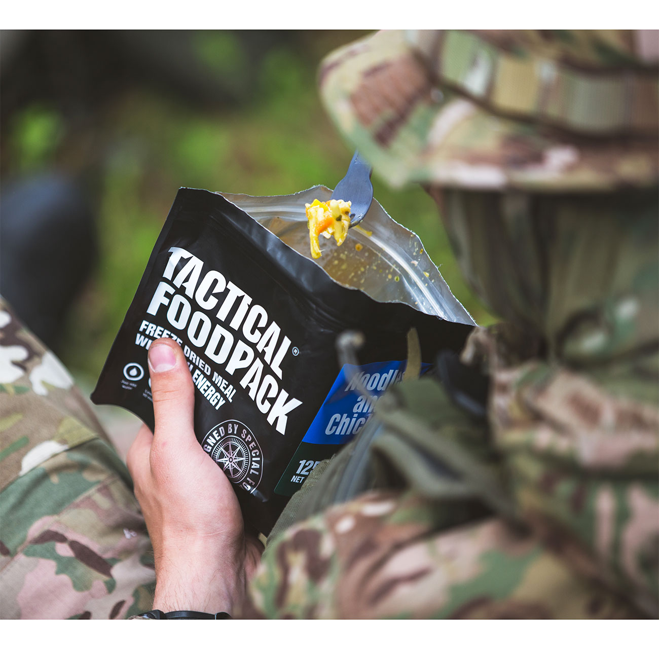 Tactical Foodpack Outdoor Mahlzeit Hühnchen mit Nudeln 7