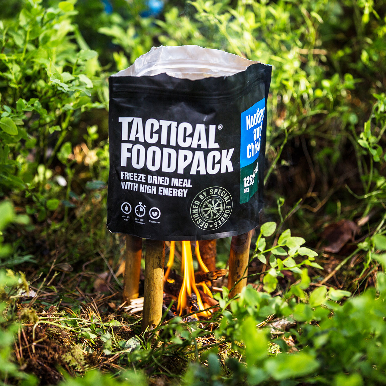 Tactical Foodpack Outdoor Mahlzeit Hühnchen mit Nudeln 9