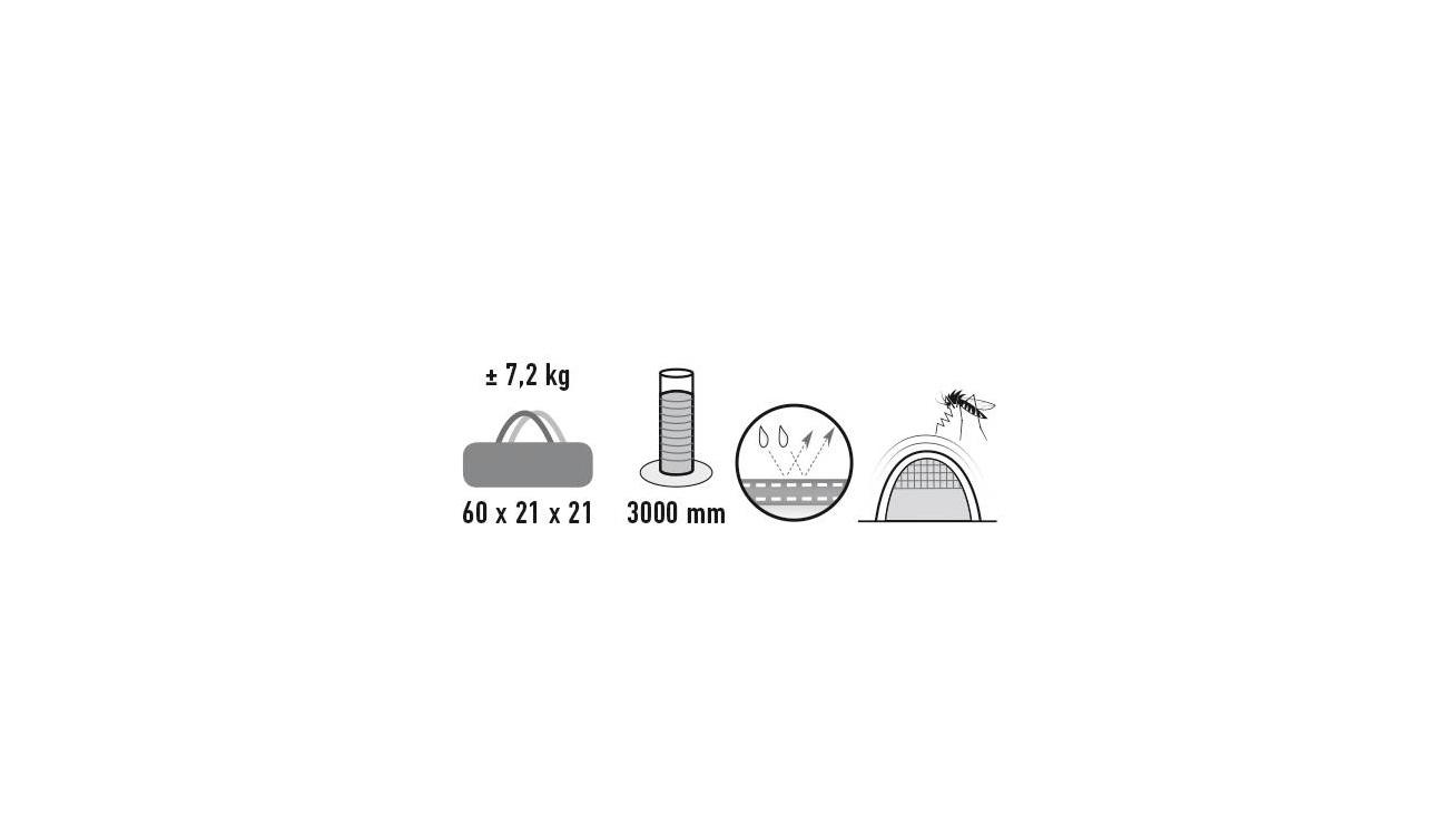 High Peak 3 Mann Zelt Fermo 3 grau Kotte & Zeller