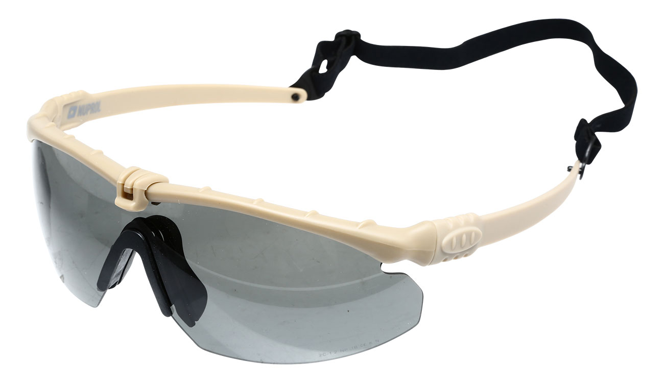 Nuprol Battle Pro Protective Airsoft Schutzbrille Tan Rauch