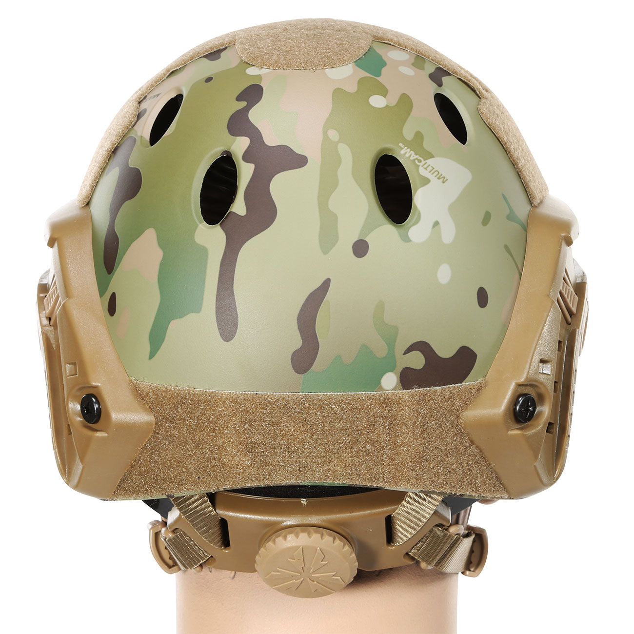 Nuprol FAST Railed Airsoft Helm mit NVG Mount MC-Camo 3