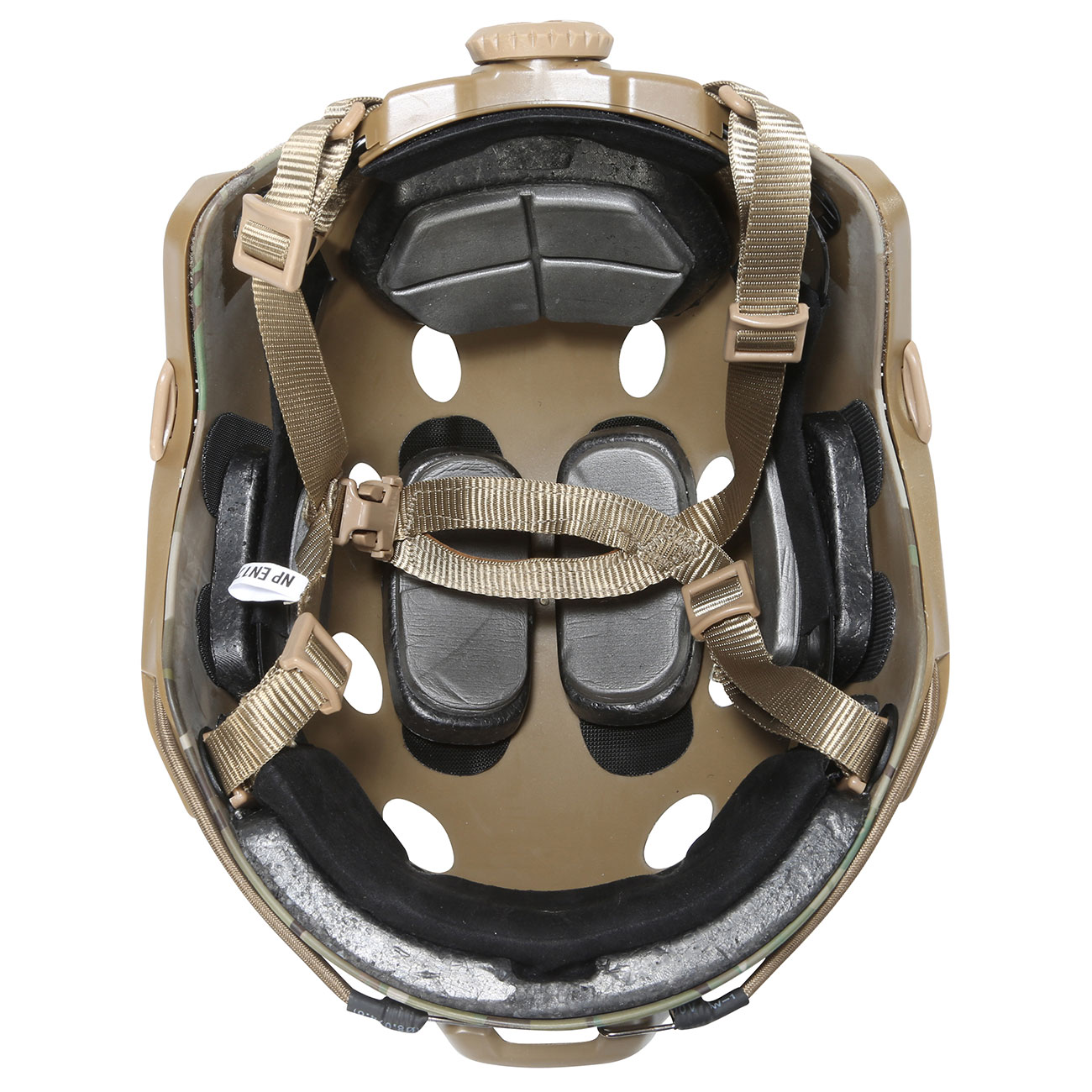 Nuprol FAST Railed Airsoft Helm mit NVG Mount MC-Camo 4