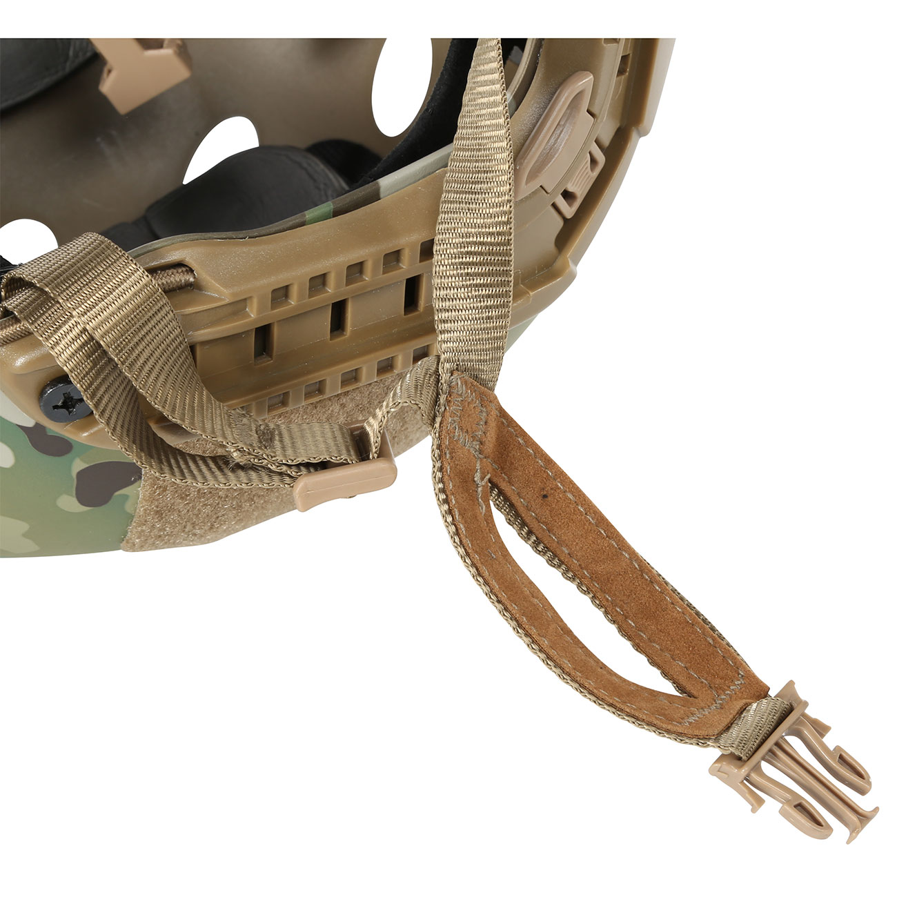 Nuprol FAST Railed Airsoft Helm mit NVG Mount MC-Camo 8