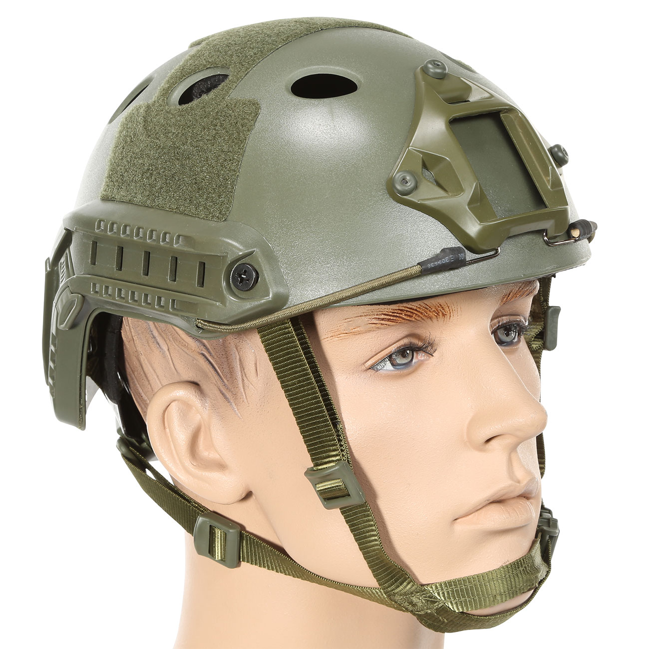 Nuprol FAST Railed Airsoft Helm mit NVG Mount oliv 1