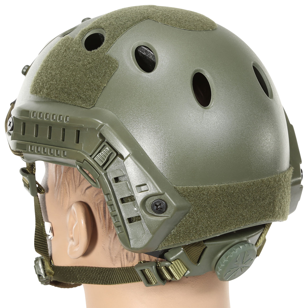 Nuprol FAST Railed Airsoft Helm mit NVG Mount oliv 2