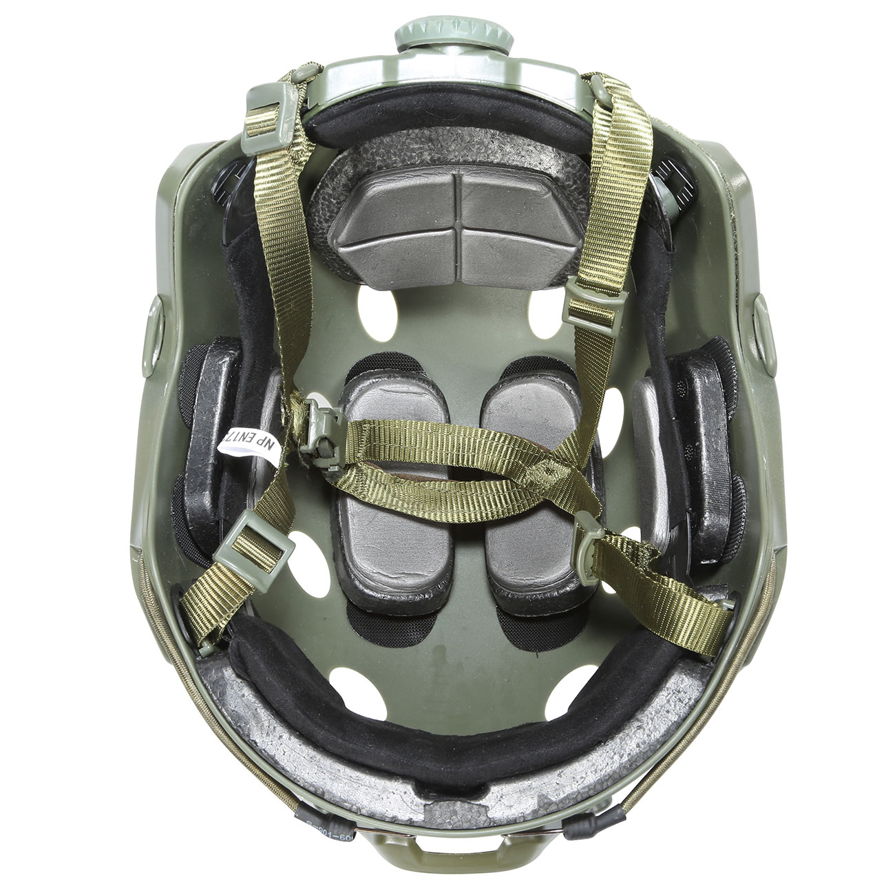 Nuprol FAST Railed Airsoft Helm mit NVG Mount oliv 4
