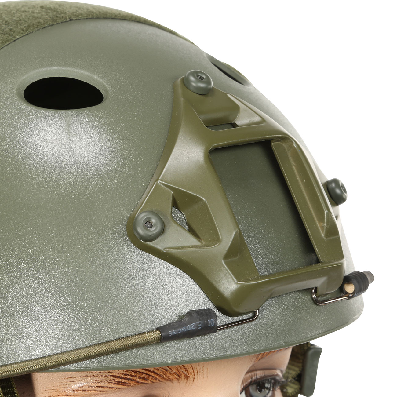 Nuprol FAST Railed Airsoft Helm mit NVG Mount oliv 6
