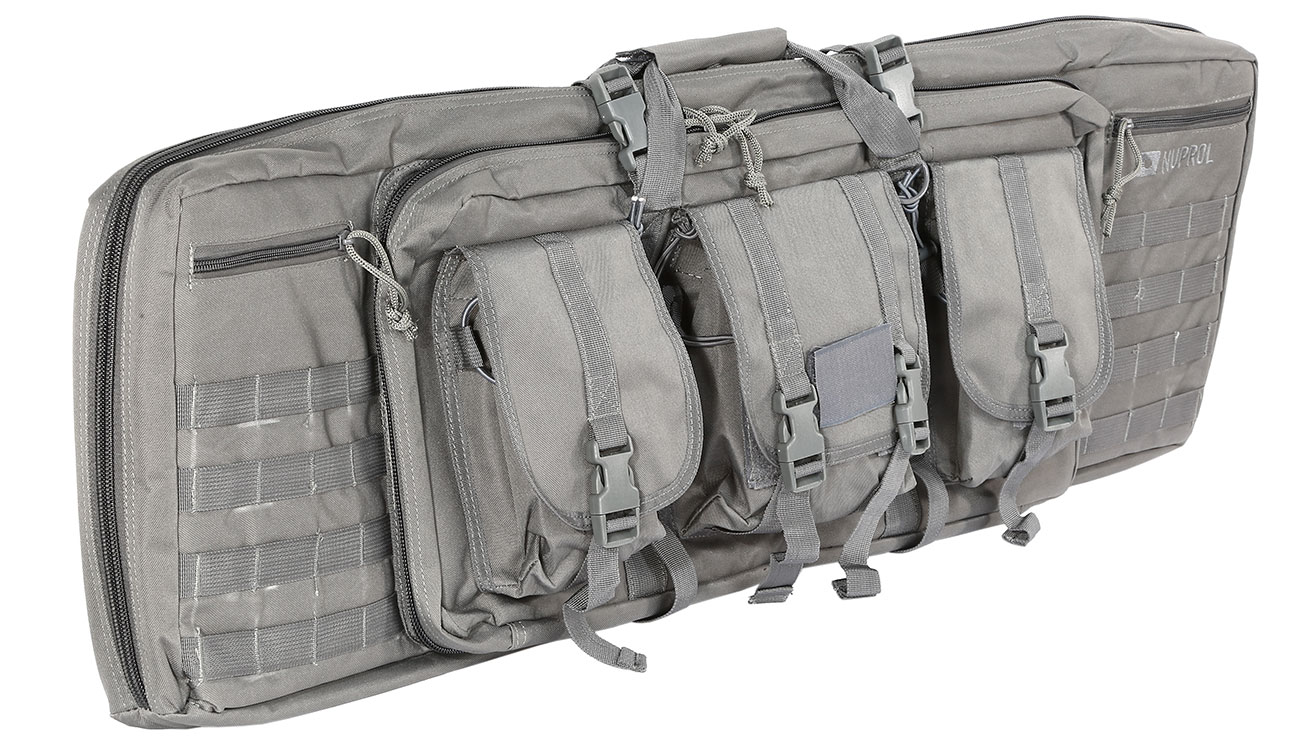 Nuprol 42 Zoll / 108 cm PMC Deluxe Soft Rifle Bag / Gewehr-Futteral grau 0