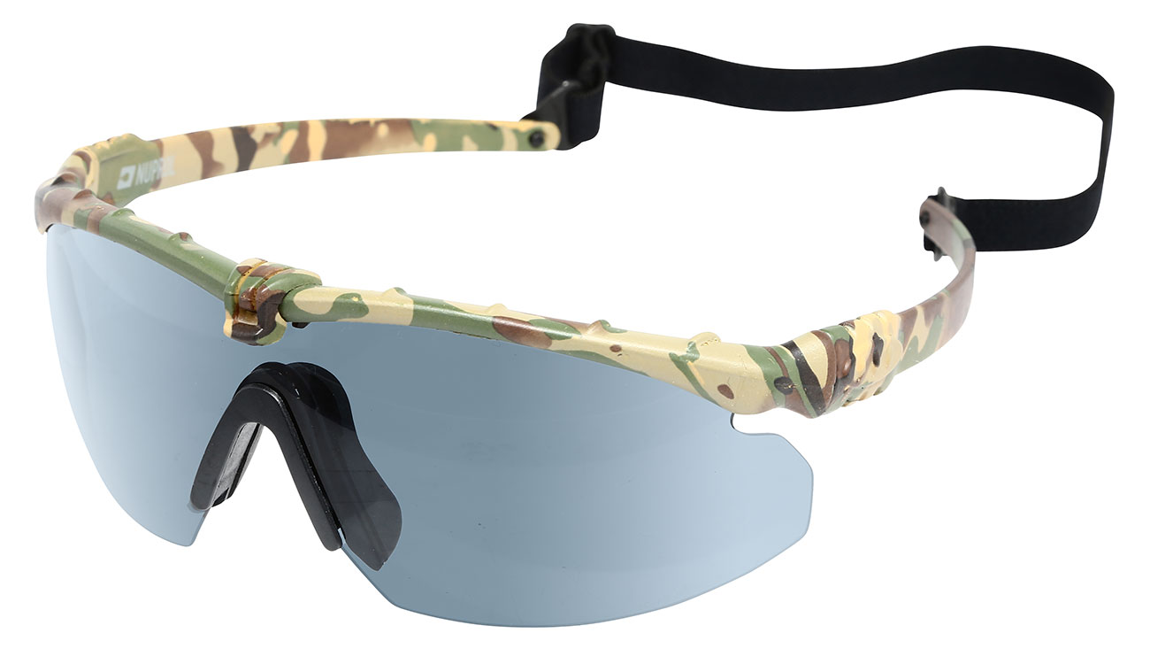 Nuprol Battle Pro Protective Airsoft Schutzbrille camo / rauch 0