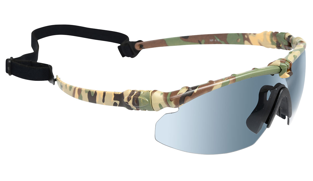 Nuprol Battle Pro Protective Airsoft Schutzbrille camo / rauch 1