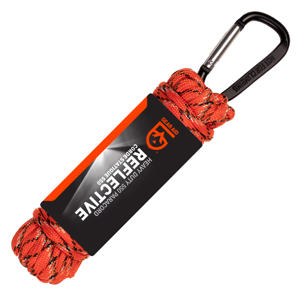 Gear Aid 550 Paracord Reflective 9 Meter mit Karabiner orange 0