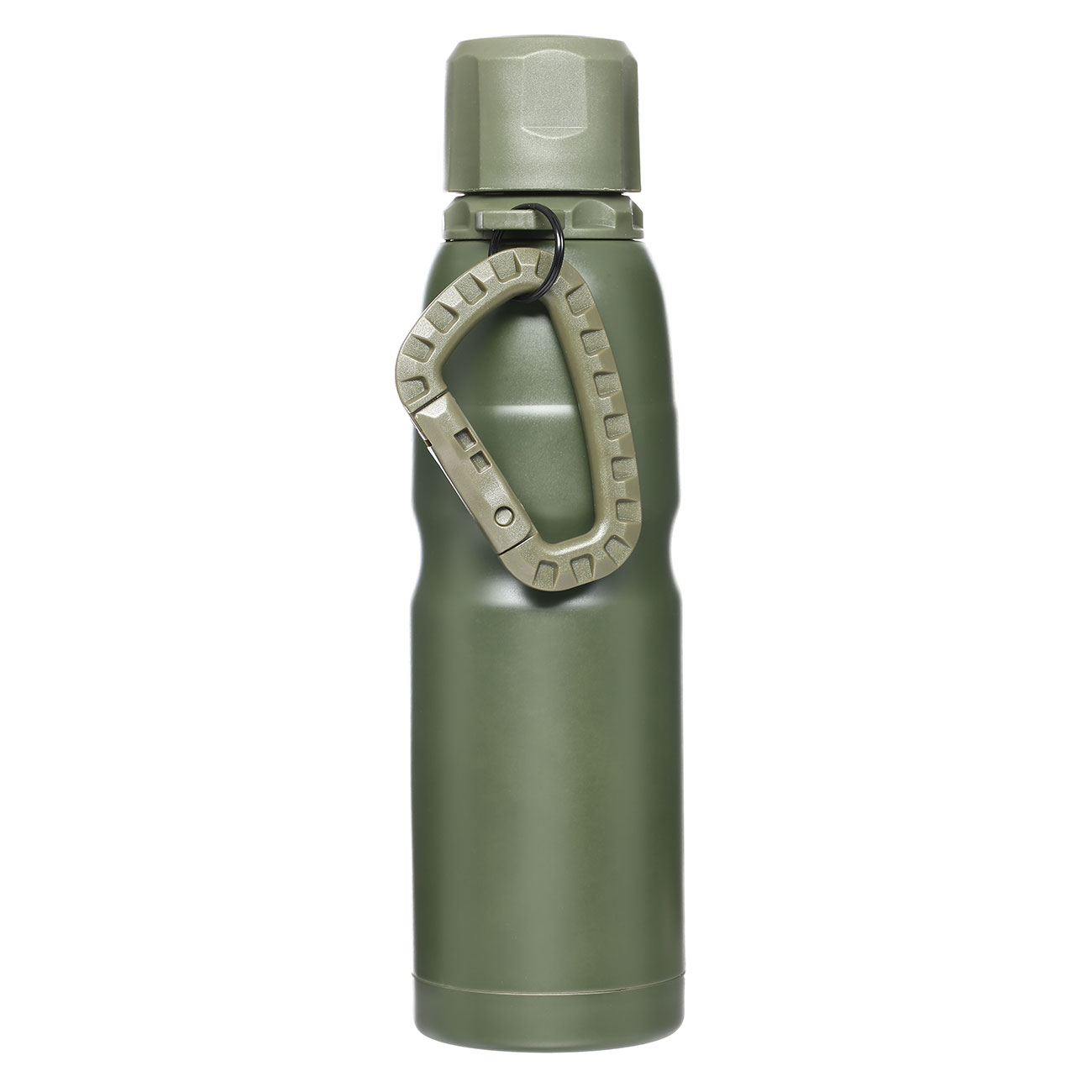 Barbaric Isolierflasche Thermos Bottle 0,5 Liter oliv mit Karabiner 0