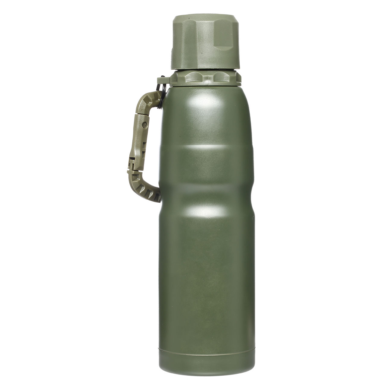 Barbaric Isolierflasche Thermos Bottle 0,5 Liter oliv mit Karabiner 1