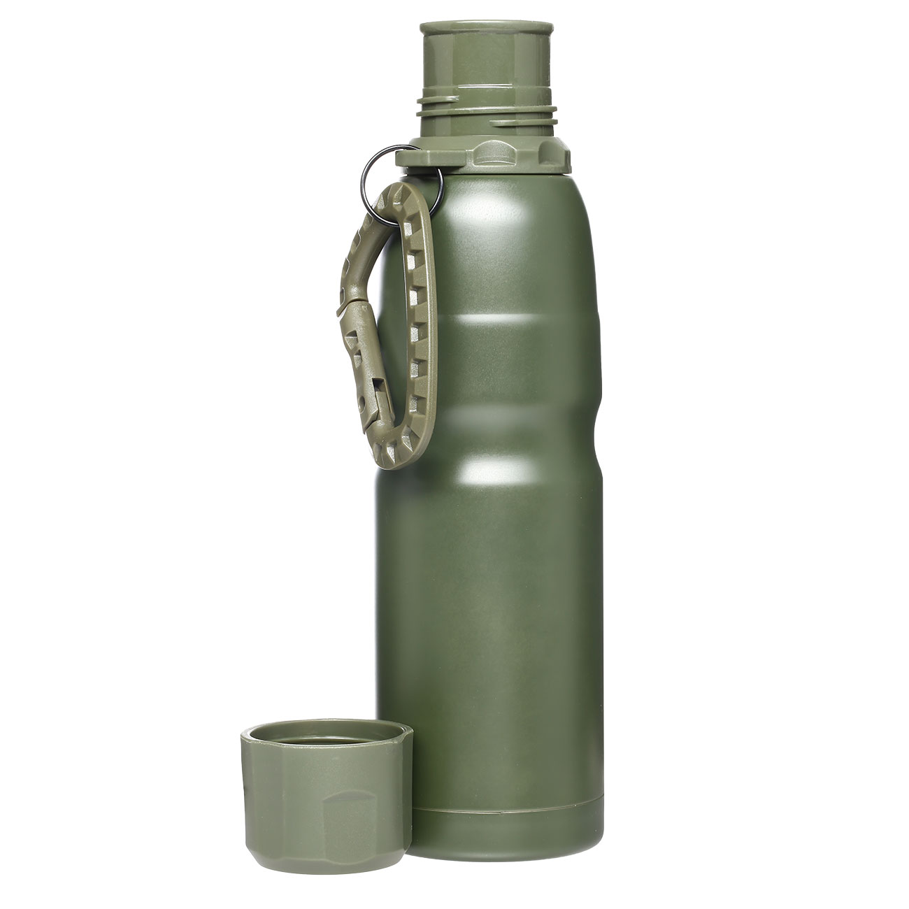 Barbaric Isolierflasche Thermos Bottle 0,5 Liter oliv mit Karabiner 3