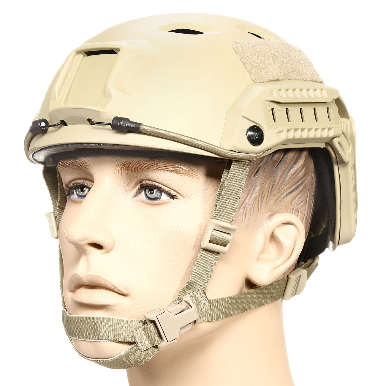 nHelmet FAST BJ Maritime Railed Airsoft Helm mit NVG Mount Dark Earth 0