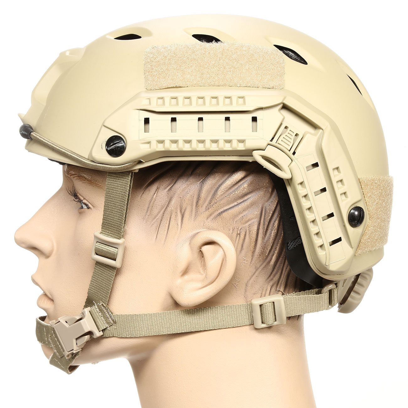 nHelmet FAST BJ Maritime Railed Airsoft Helm mit NVG Mount Dark Earth 1