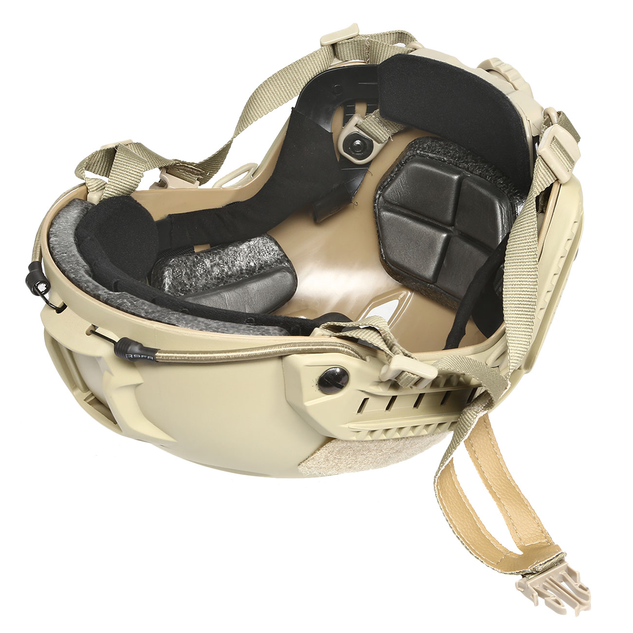 nHelmet FAST BJ Maritime Railed Airsoft Helm mit NVG Mount Dark Earth 9