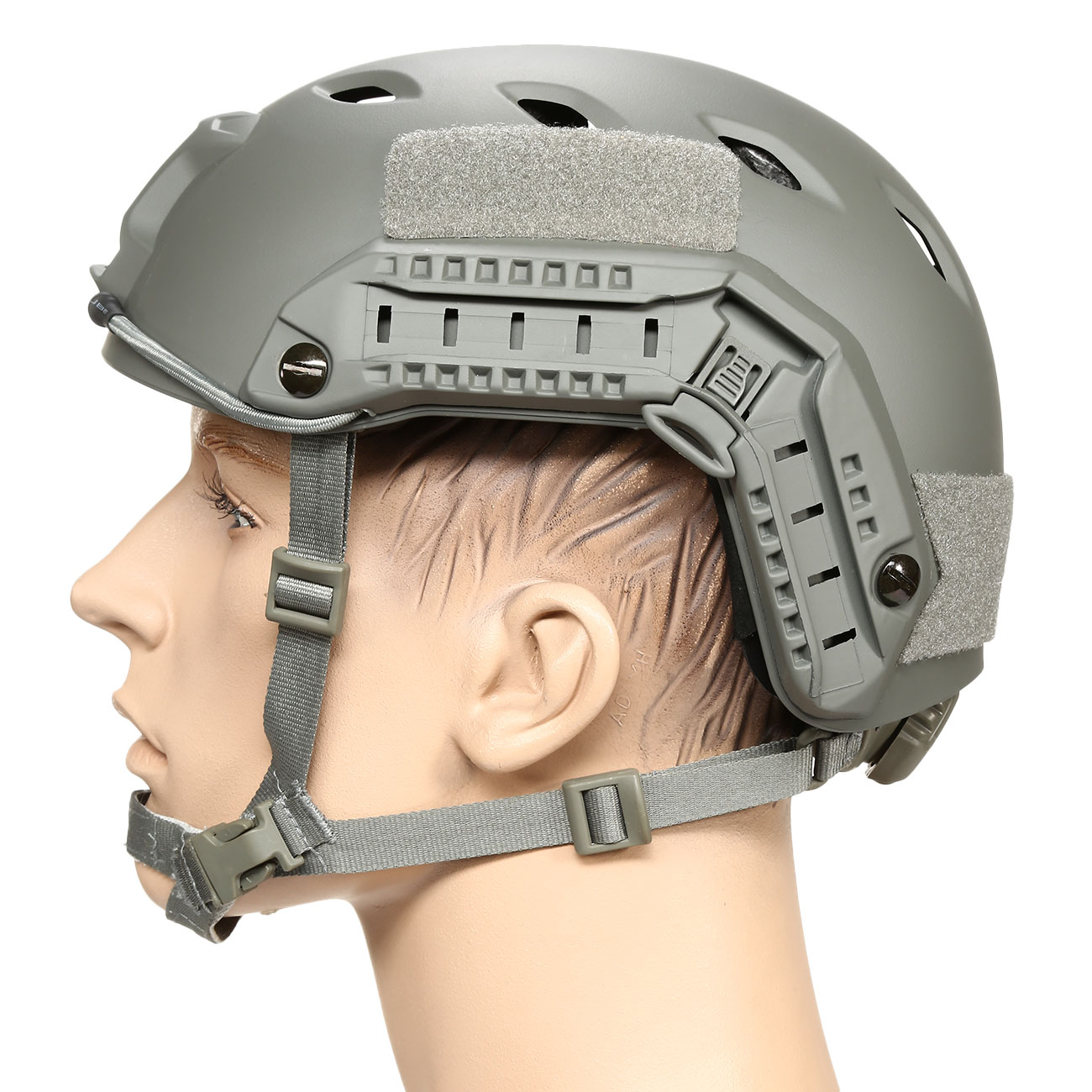 nHelmet FAST BJ Maritime Railed Airsoft Helm mit NVG Mount Foliage Green 1