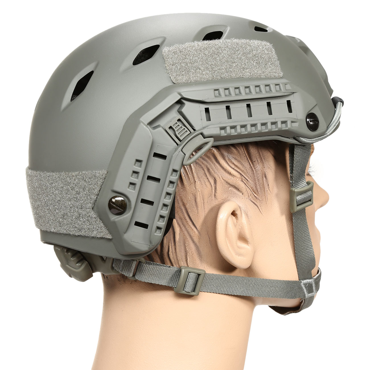 nHelmet FAST BJ Maritime Railed Airsoft Helm mit NVG Mount Foliage Green 3