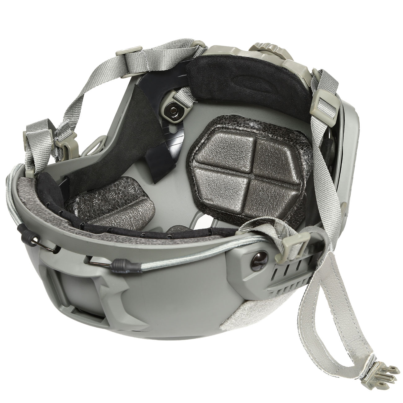nHelmet FAST BJ Maritime Railed Airsoft Helm mit NVG Mount Foliage Green 9