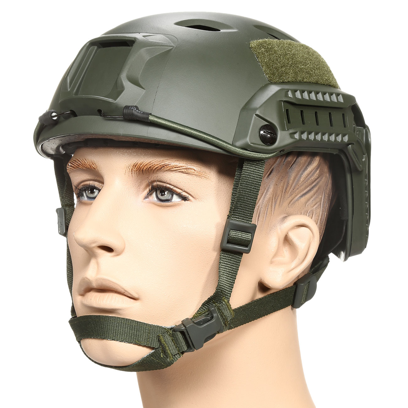 nHelmet FAST BJ Maritime Railed Airsoft Helm mit NVG Mount oliv 0