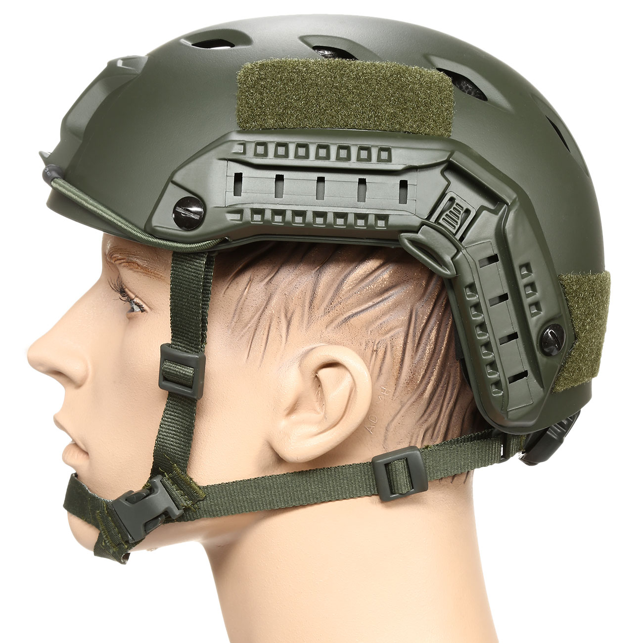 nHelmet FAST BJ Maritime Railed Airsoft Helm mit NVG Mount oliv 1