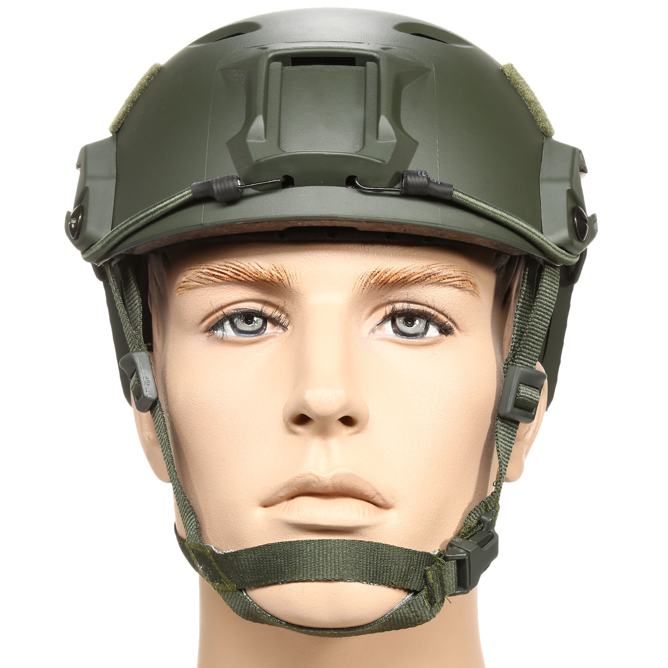 nHelmet FAST BJ Maritime Railed Airsoft Helm mit NVG Mount oliv 2