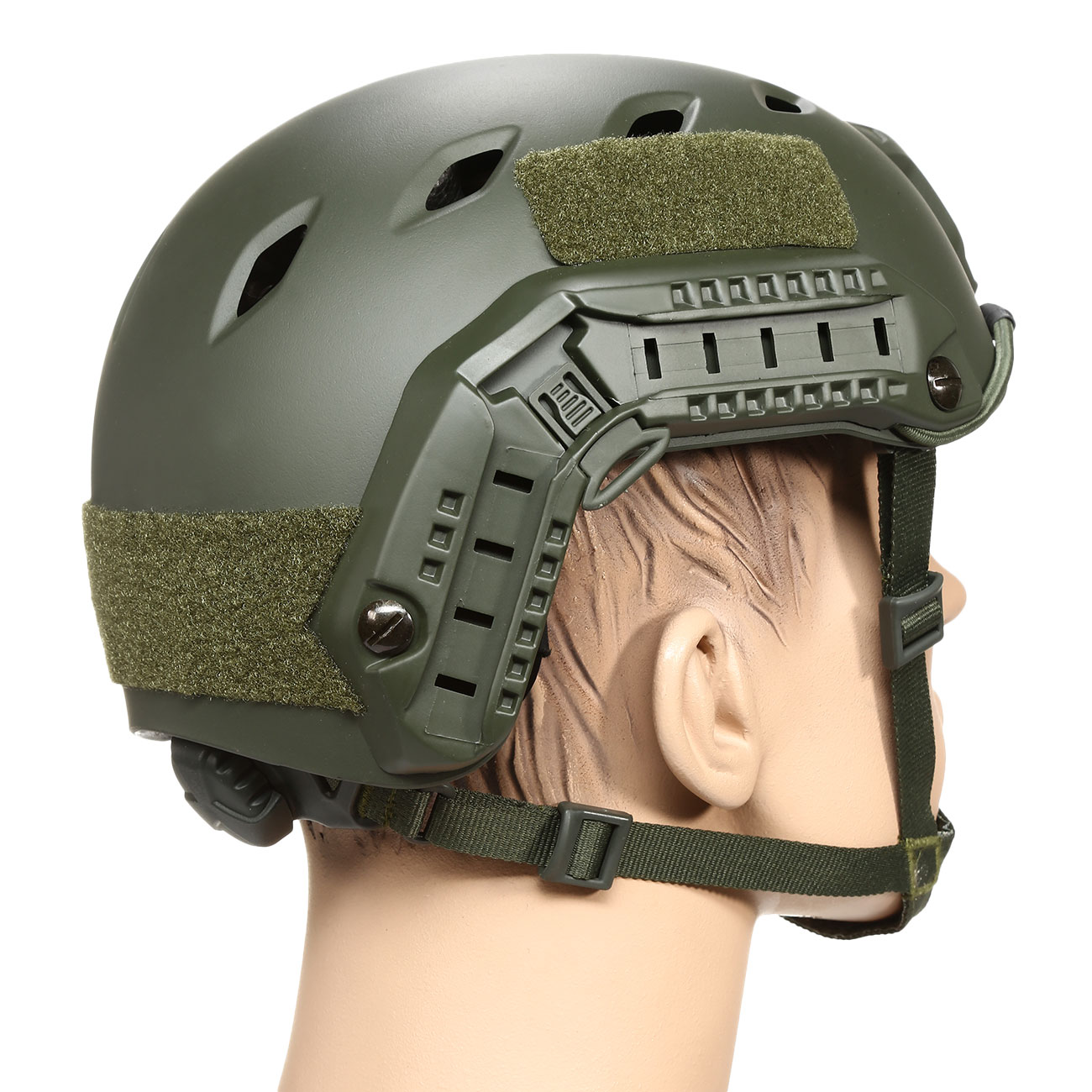 nHelmet FAST BJ Maritime Railed Airsoft Helm mit NVG Mount oliv 3