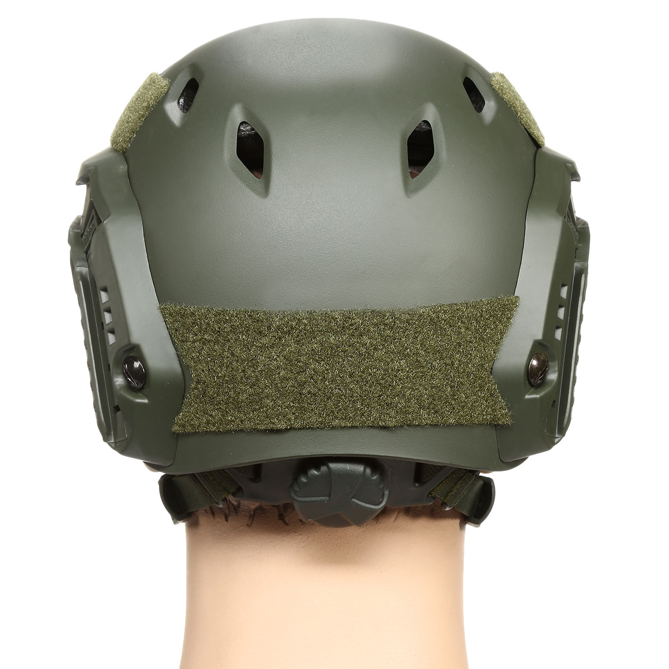 nHelmet FAST BJ Maritime Railed Airsoft Helm mit NVG Mount oliv 4