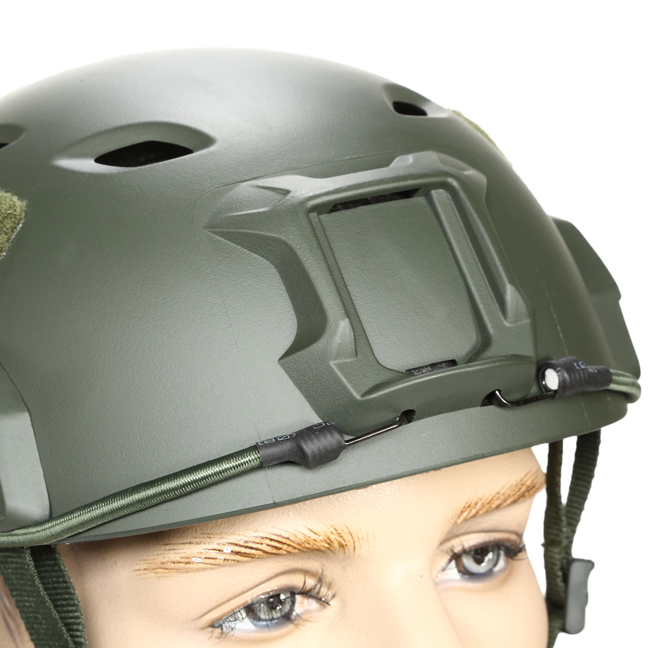 nHelmet FAST BJ Maritime Railed Airsoft Helm mit NVG Mount oliv 5