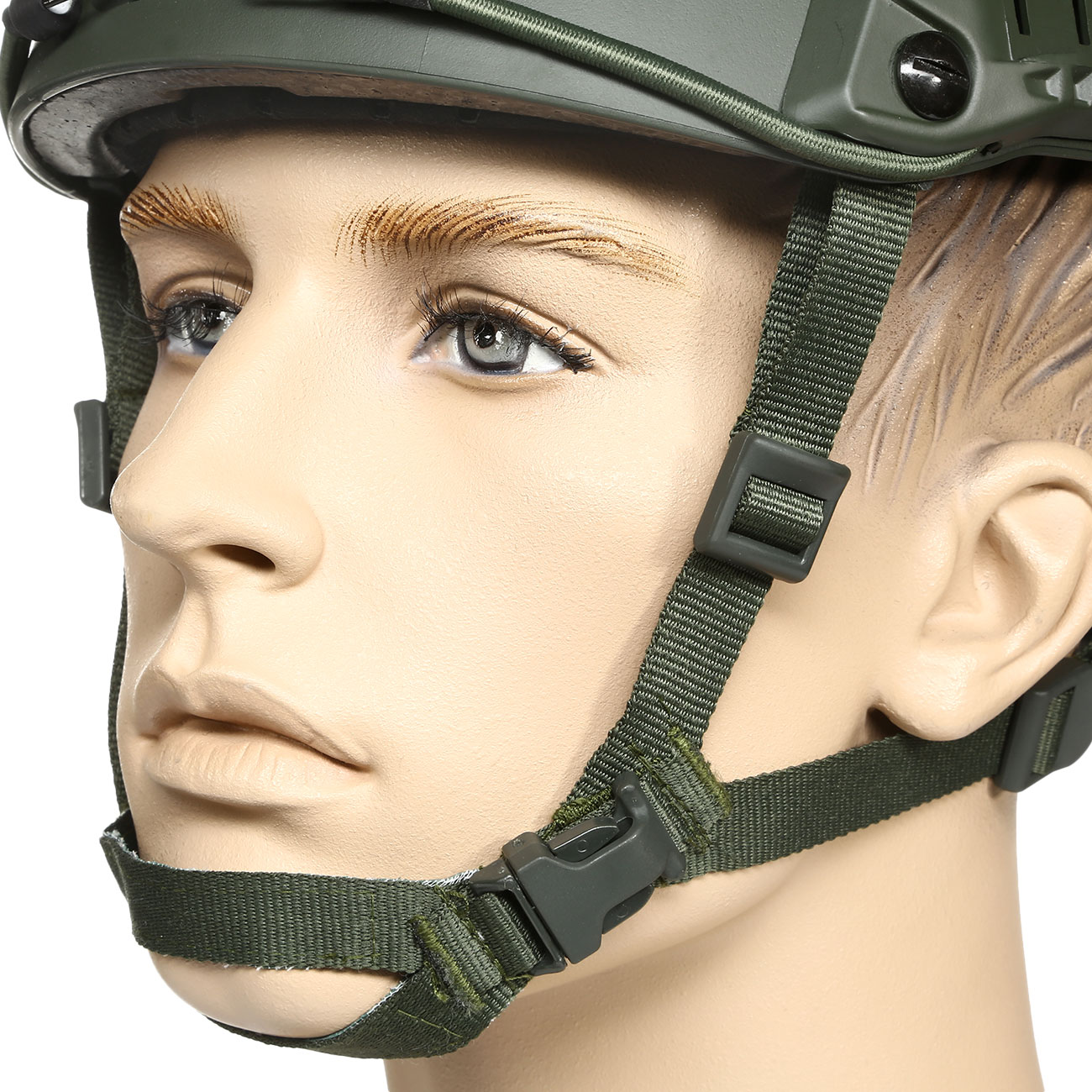 nHelmet FAST BJ Maritime Railed Airsoft Helm mit NVG Mount oliv 6