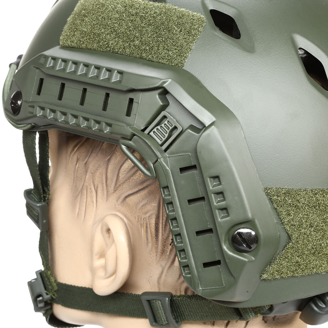 nHelmet FAST BJ Maritime Railed Airsoft Helm mit NVG Mount oliv 7